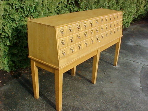 #33- LIBRACO 36 DRAWER OAK FILE