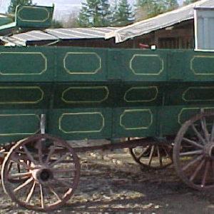 #101- Grain Wagon  c/w buckboard