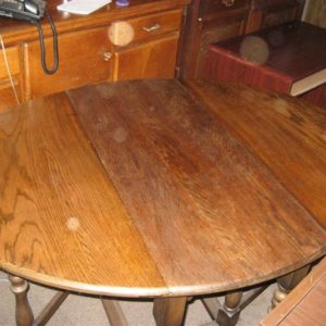 #47 – Oval Oak folding table